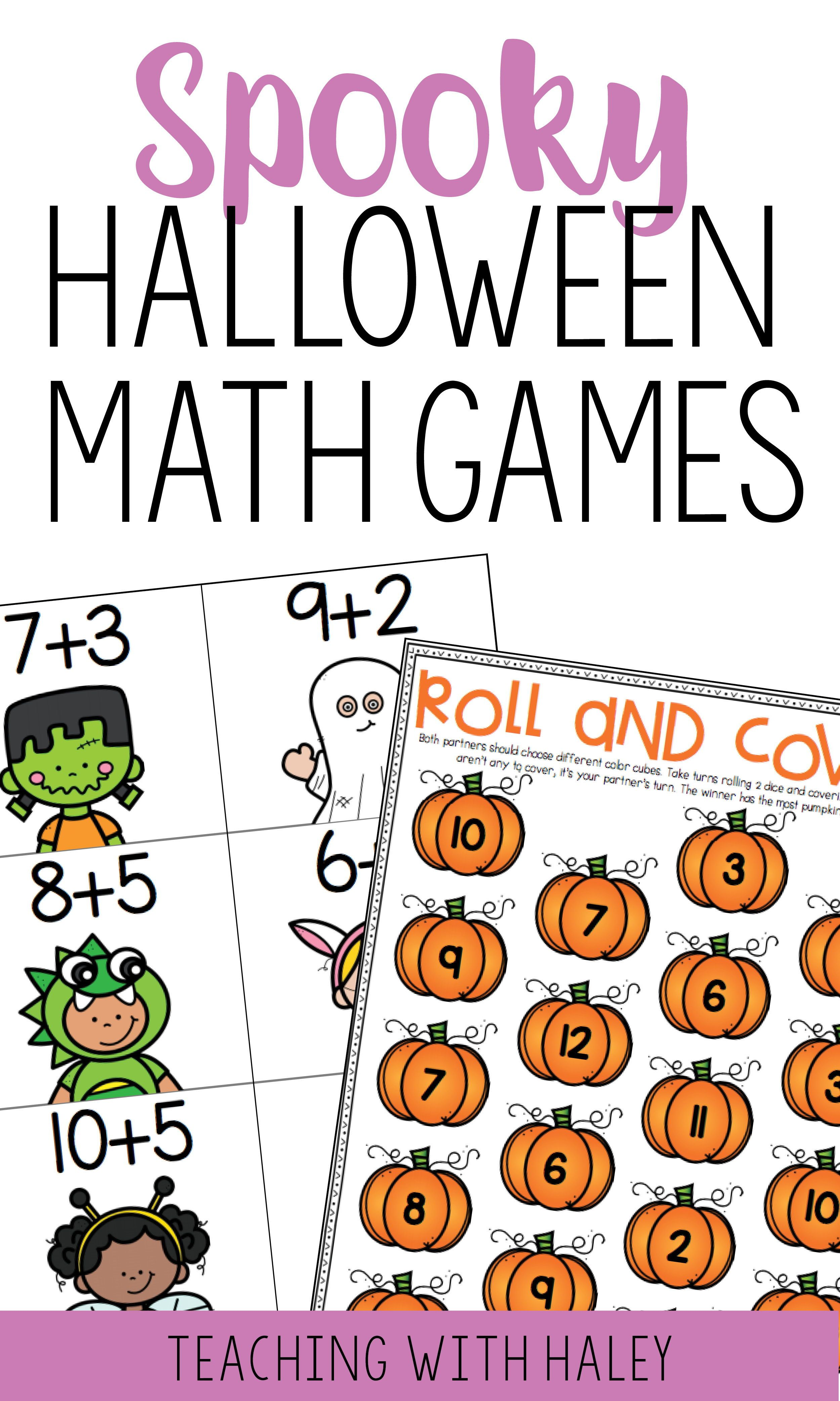 Halloween Math Games For Kindergarteners And First Graders