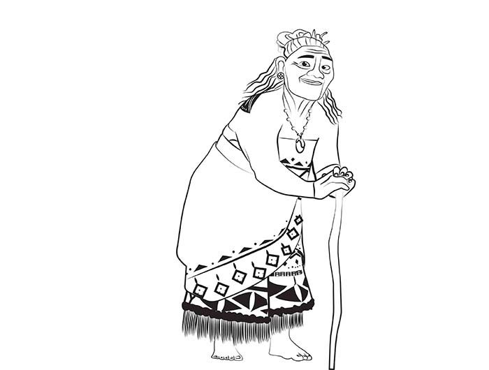 Coloriages gratuits à imprimer Vaiana et Maui | Coloriage gratuit