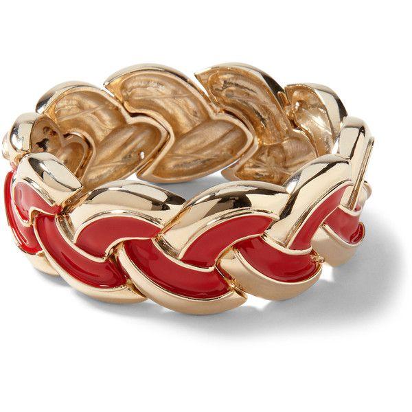 Red Enamel/Goldtone Bracelet...whitehouseblackmarket