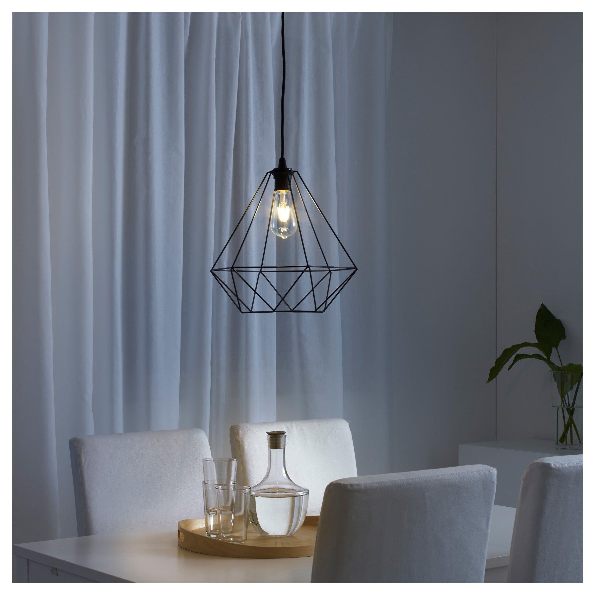 IKEA BRUNSTA Pendant lamp shade black Small lamp