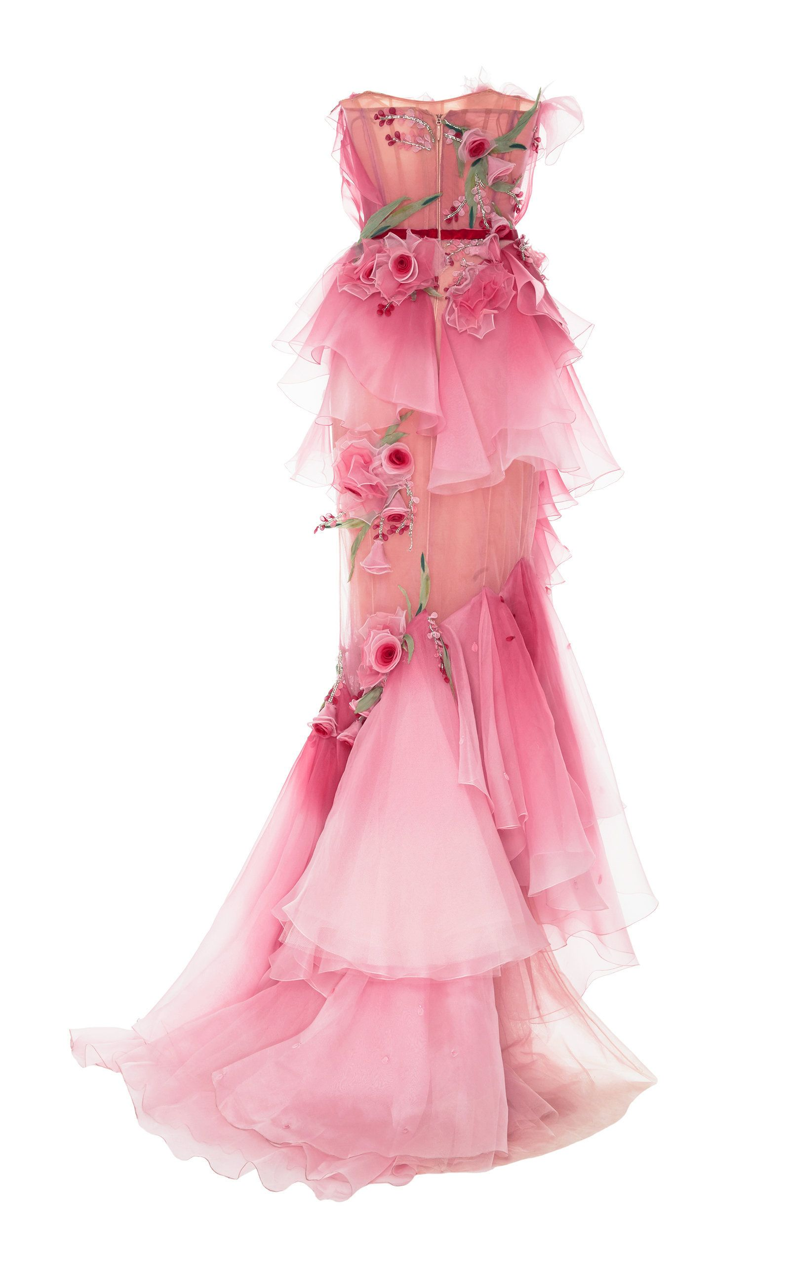 Ombre tiered silk organza gown in aaah fashion pinterest