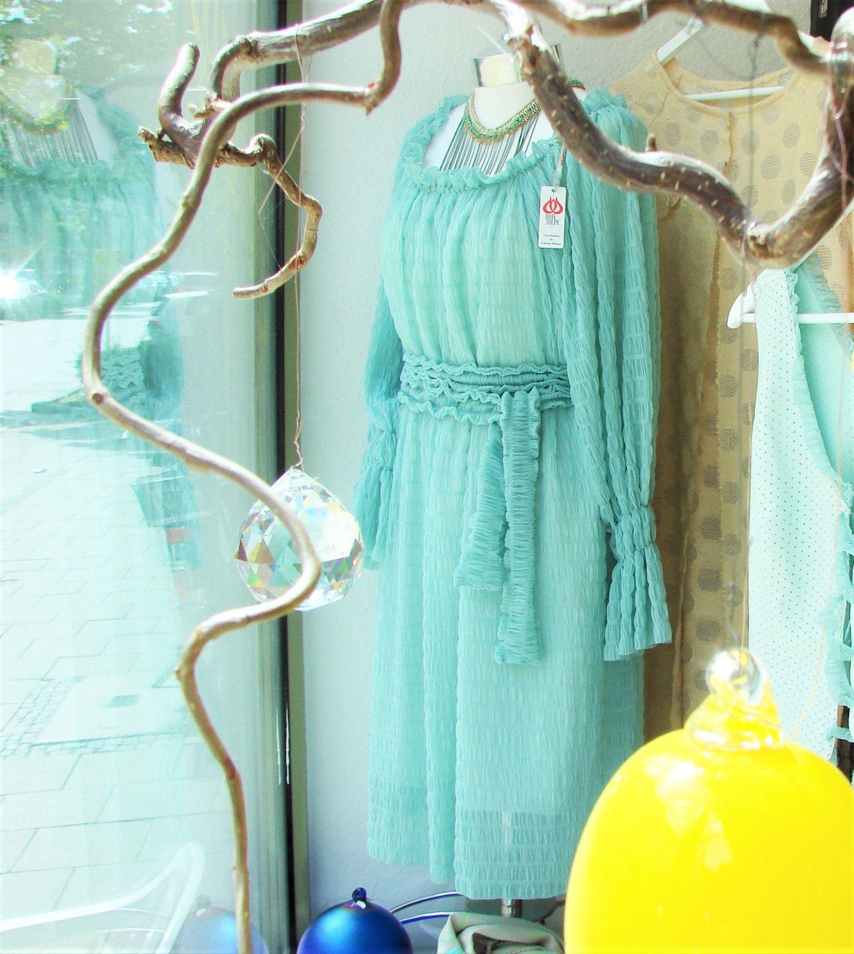 boho kleid aus tüll mit gürtel blaues sommerkleid brautkleid