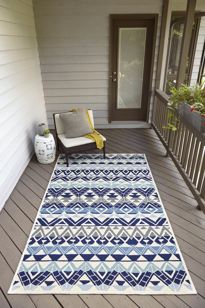 boho hand hooked multi blue rug in 2020 chic beach house area rugs blue area on boho chic kitchen rugs id=92250