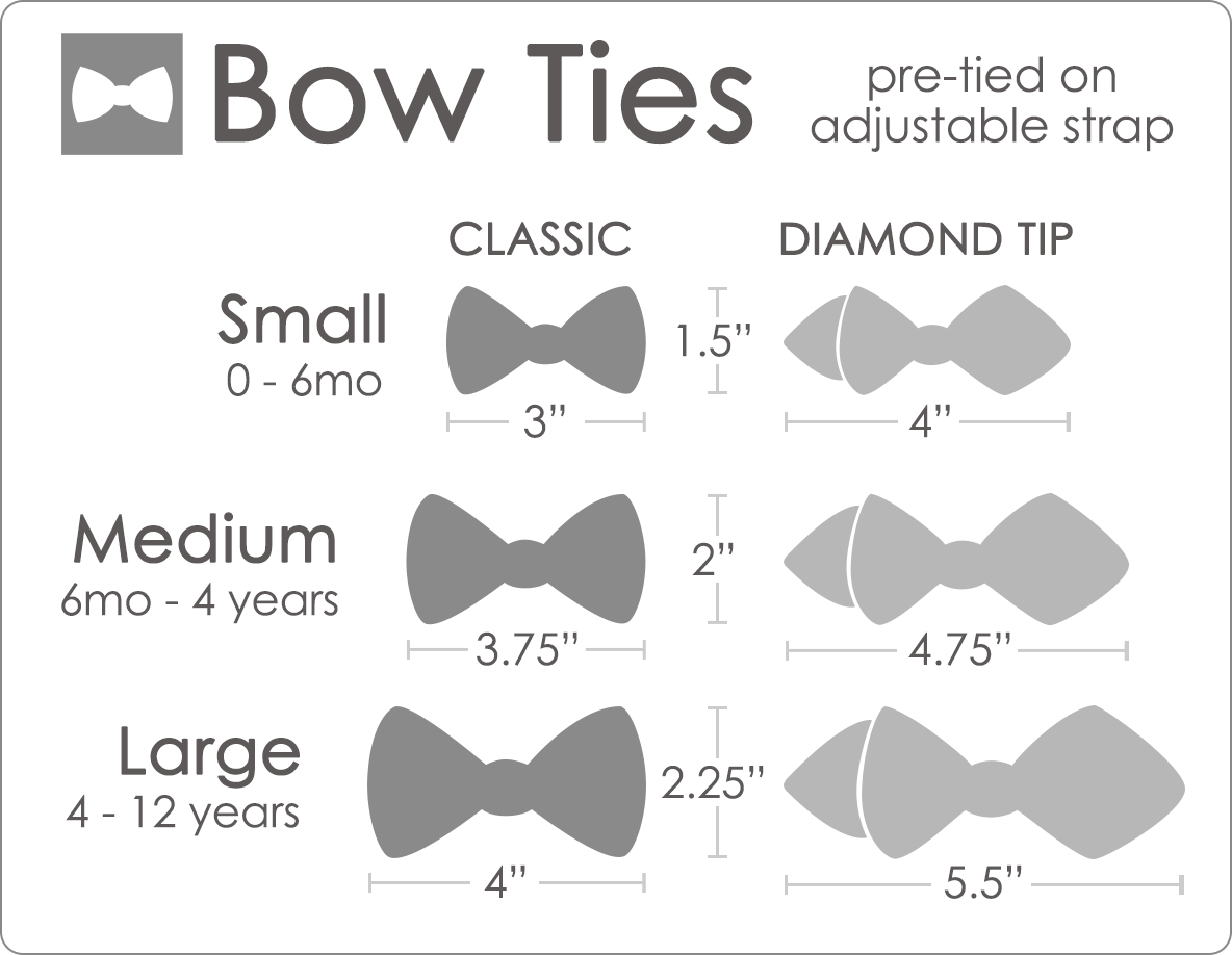 Bowtie Size Bow Tie Chart Mens Style Guide Pinterest