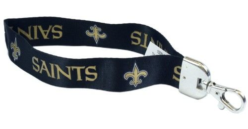 Wristlet Lanyard New Orleans Saints Key Fob Dog Collars and Leashes