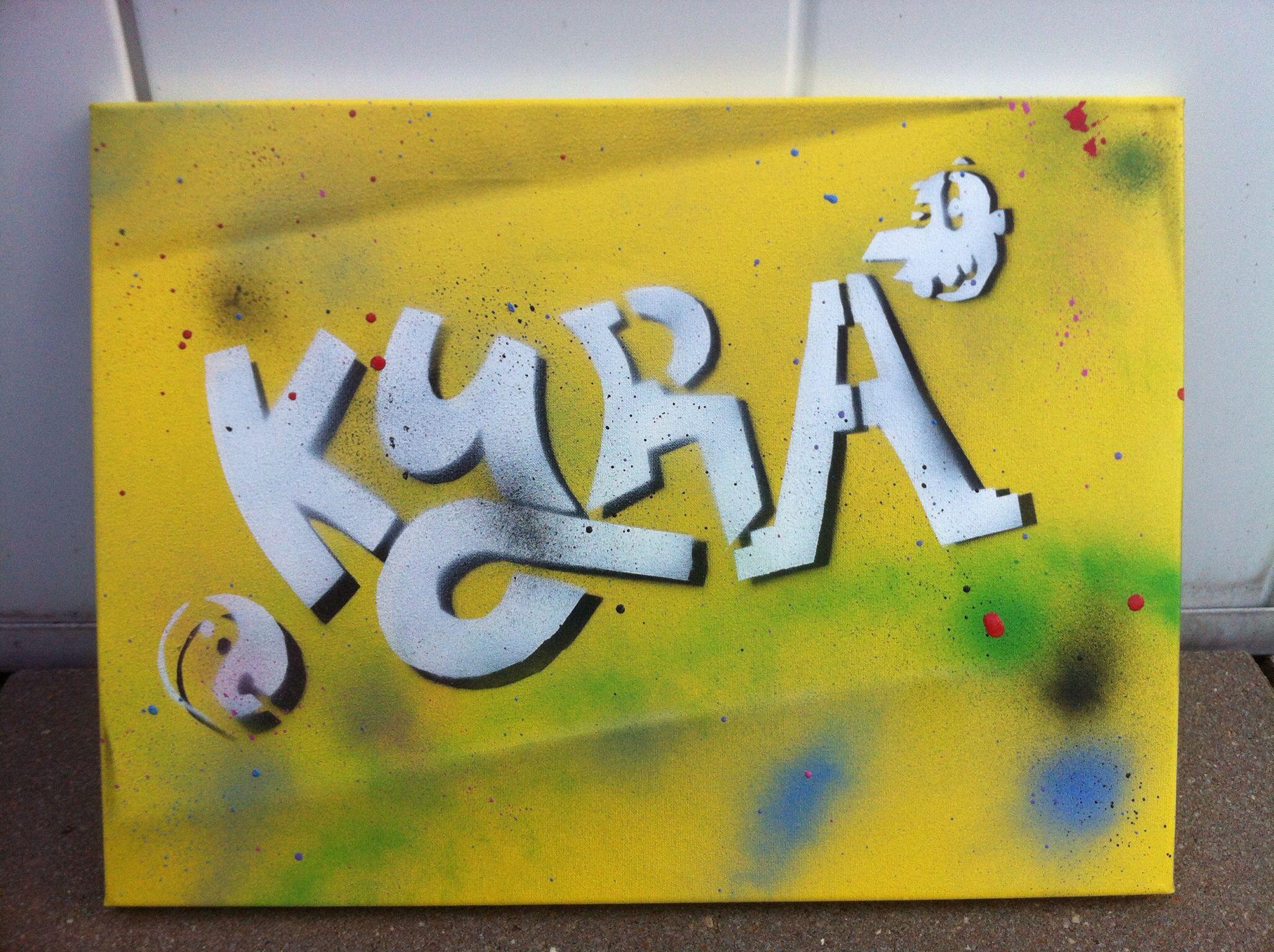 Voor het eerst een graffiti spuitbus in mijn hand gehad