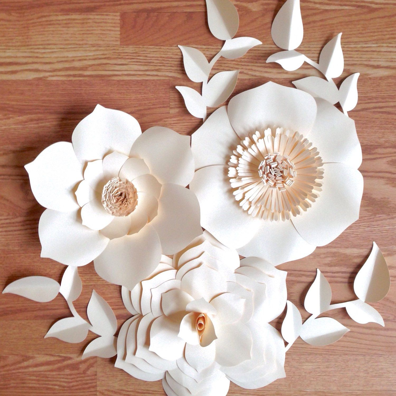 Paper Flower Backdrop, Giant Paper Flowers, Wedding Centerpiece ...