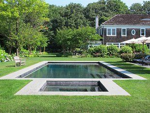 modern pool designs and landscaping. Beautiful Pool And Gardens, Shingle House, Landscaping, Hamptons Modern Designs Landscaping