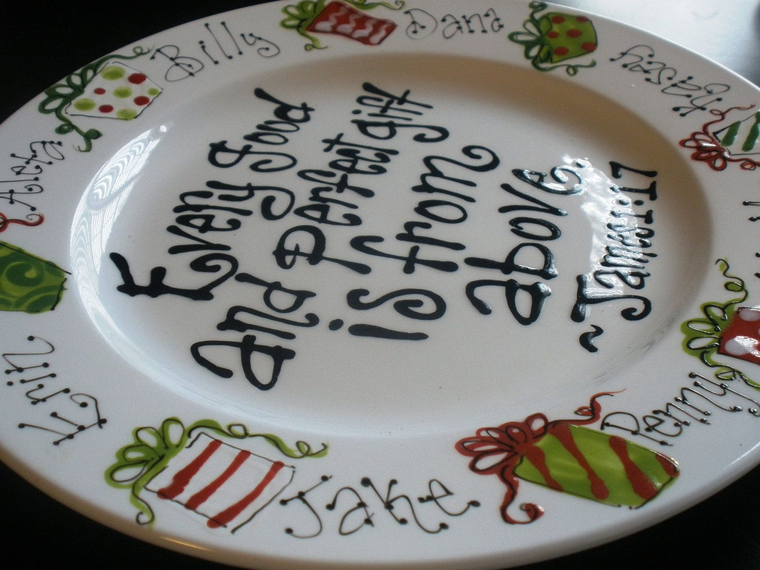 painted plate every and gift family