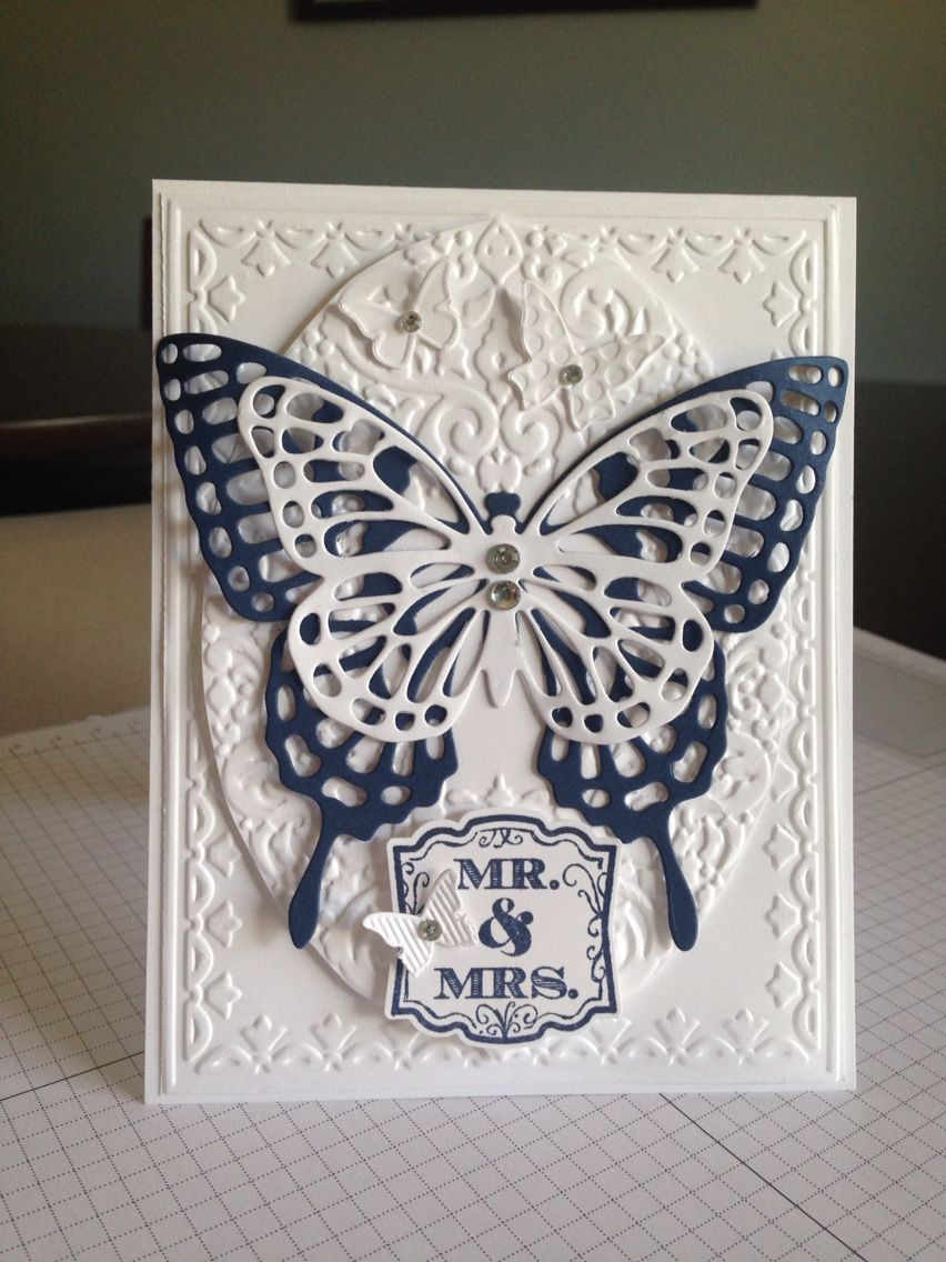 Stampin up, butterfly wedding card
