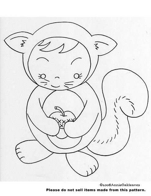 free embroidery pattern | Squirrel | Bordado, Bordado en hilo, Patrones