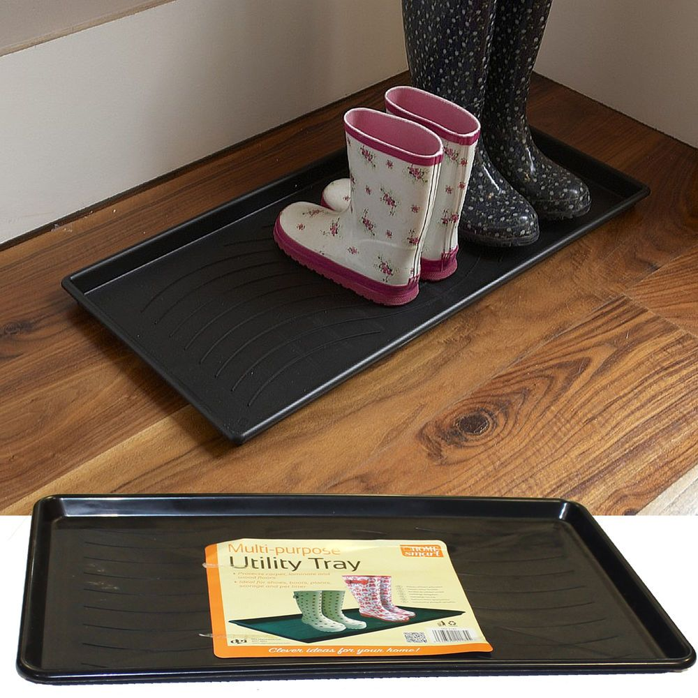 Home door plastic washable utility tray shoe welly boot