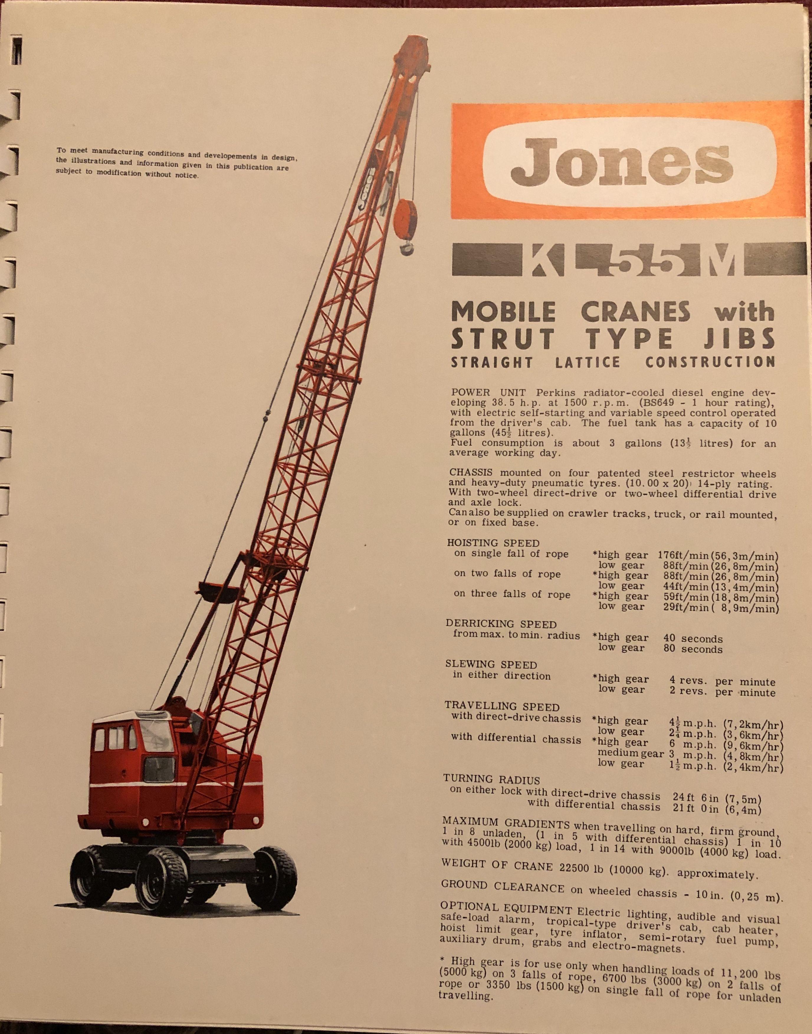 Jones Cranes, Letchworth, Herts | Jones Cranes | Equipment