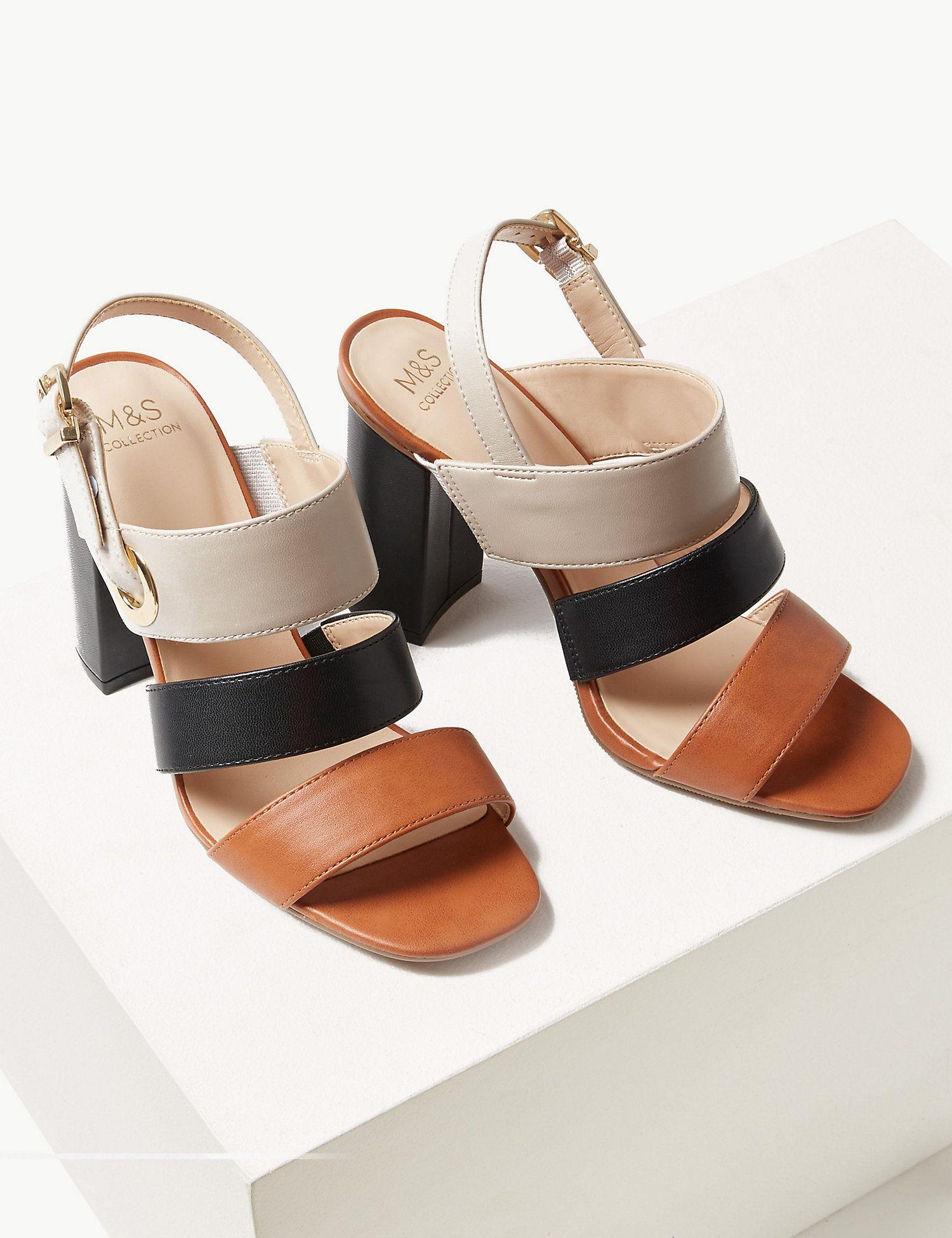 Block Heel Slingback Sandals | M\u0026S