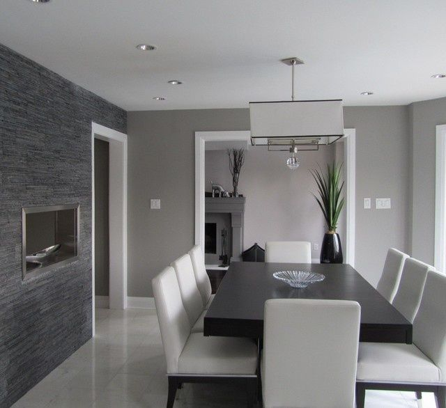 Grey Paint Colors For The Home Contemporary Dining Room Design Dining Room Contemporary Dining Room Interiors