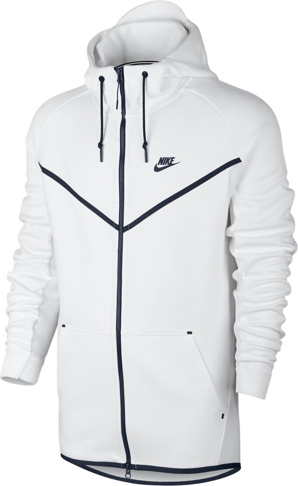 7cf947163f52 Nike Men s Tech Fleece Windrunner Hero Full Zip Jacket sz XL (727340-100)  White