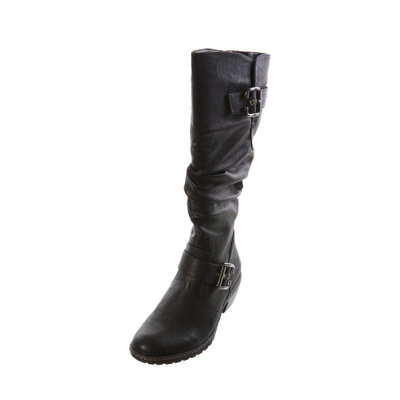 newest collection c97e6 5818f Rieker 90754 00 Bernadette Black Ladies Womens Long Boot ...