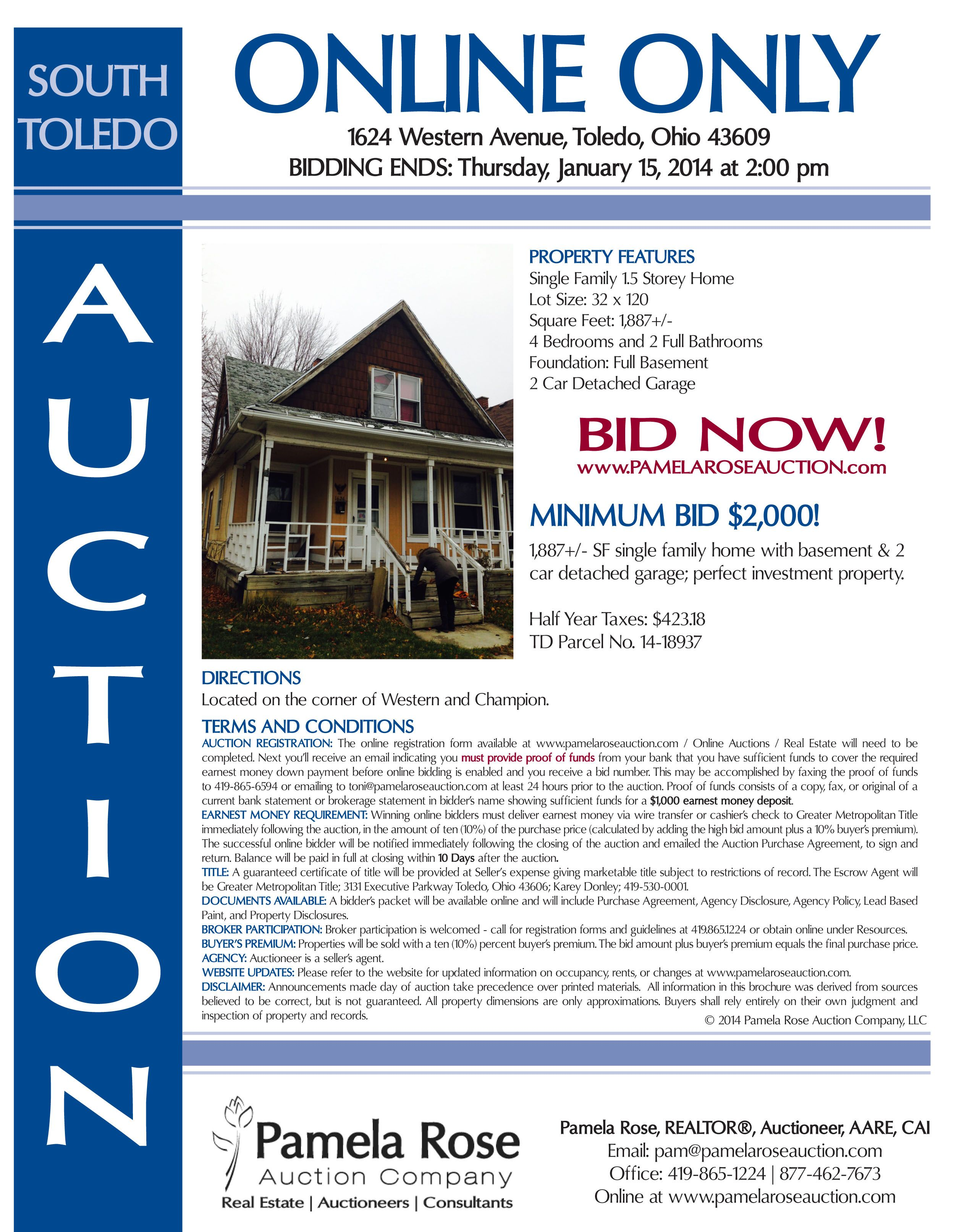Online Only Auction In South Toledo Minimum Bid 2 000 1624