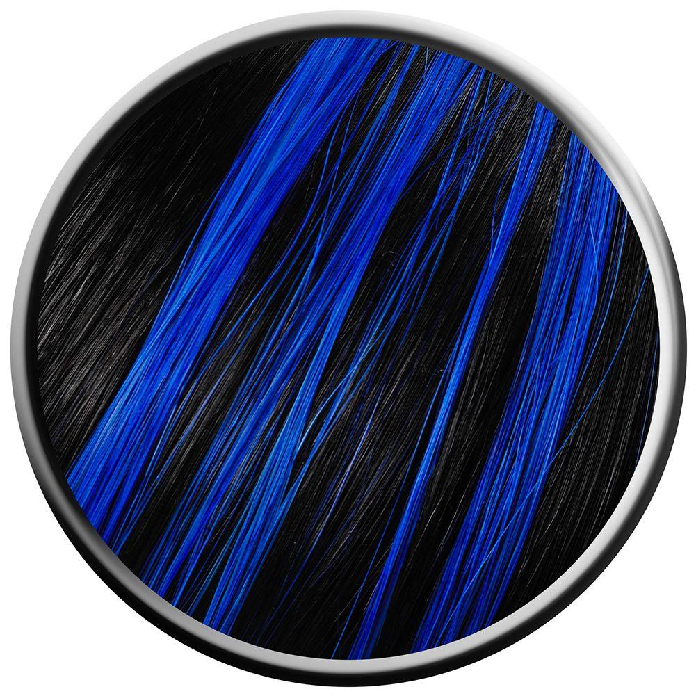 Blue Highlights For Black Hair Hair Colour Highlighted Hair