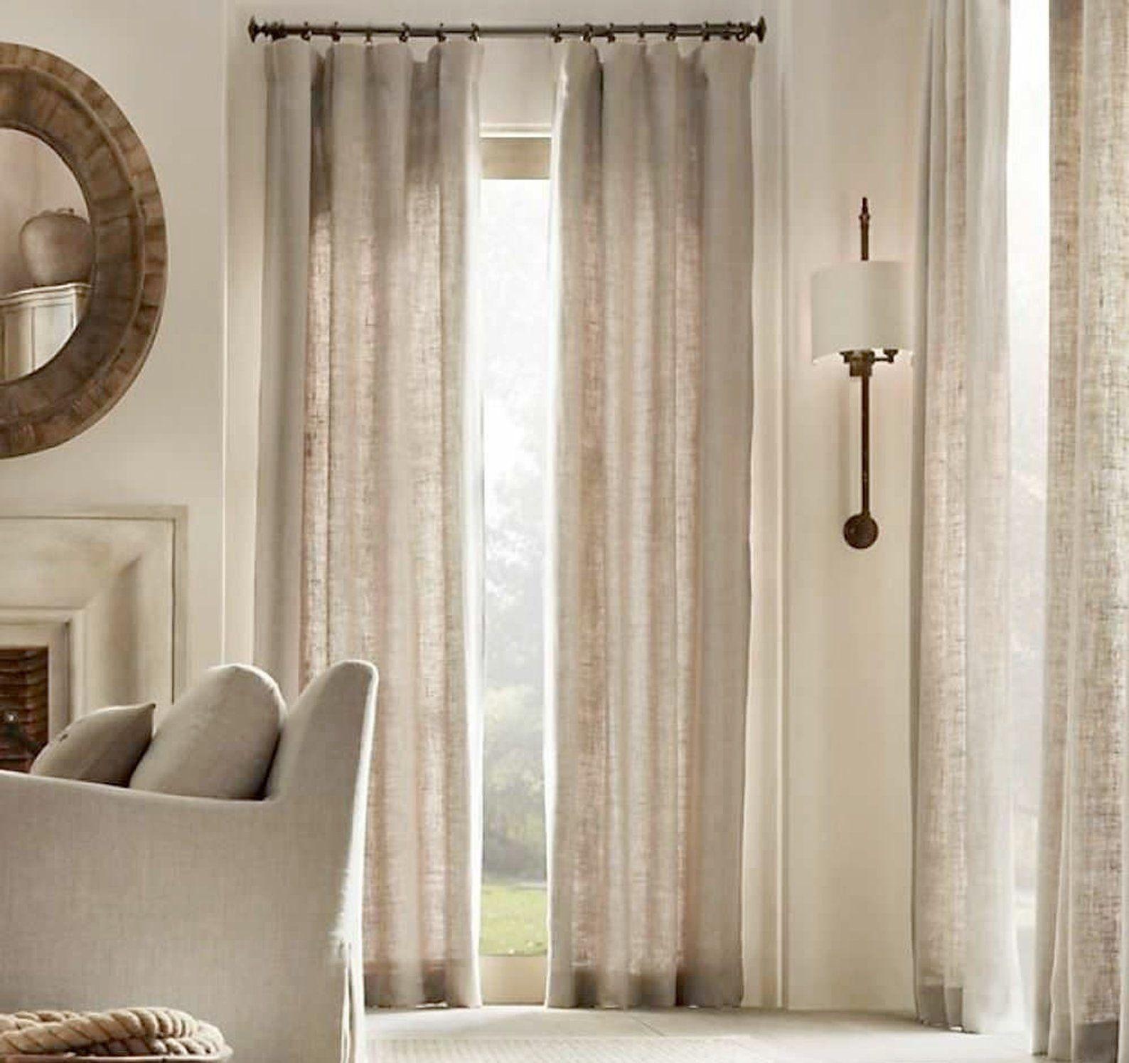 Natural Curtains Linen Curtains Farmhouse Curtains Living Room