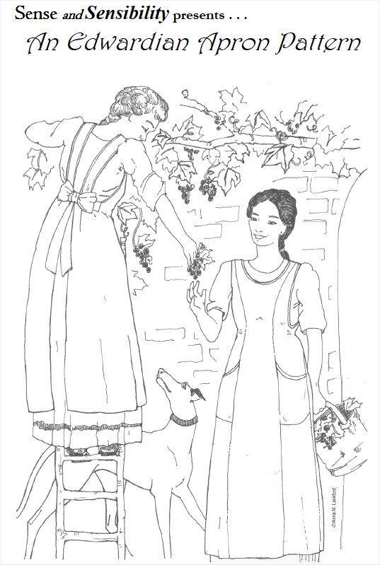 Ladies\' Edwardian Apron Pattern | Sewing | Pinterest | Historia de ...