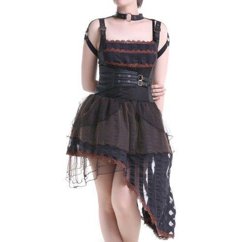 Robe corset simili cuir