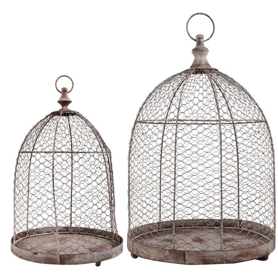 Esschert Design USA Aged Metal Wire Cloche - Set of 2 - AM46 ...