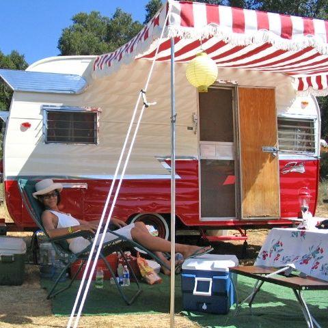 Classic Vintage Trailer Awnings Vintage Camper Camper Awnings Trailer Awning