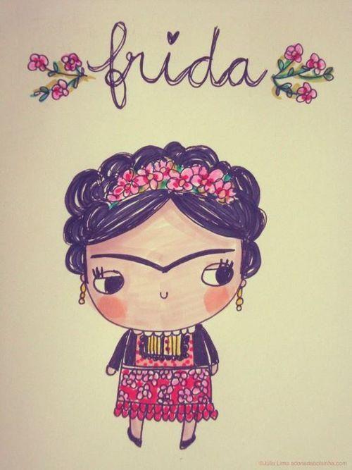 #Frida #ilustración                                                                                                                                                     Más