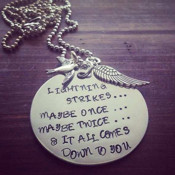 Hand Stamped Aluminum Necklace with Fleetwood Mac Stevie Nicks Quote. on Etsy, $30.00