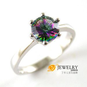 rainbow colored topaz ring! love!