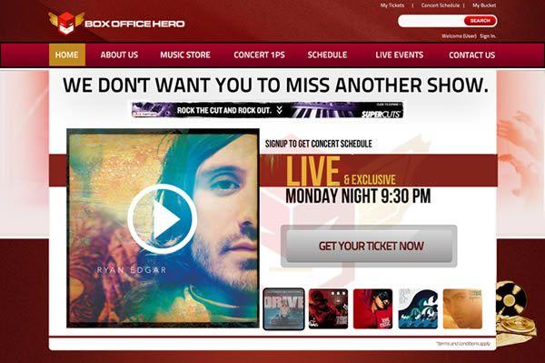 User Interface Design For Box Office Hero Interface Design User Interface Design Design Development