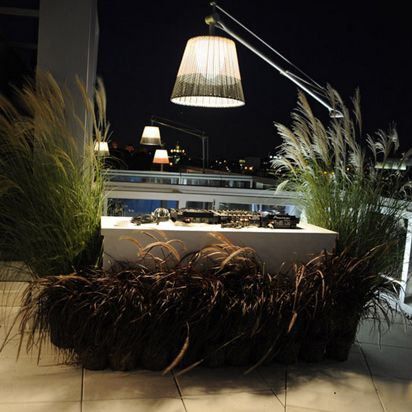 The Superarchimoon Outdoor Floor Lamp by Flos presents an extra