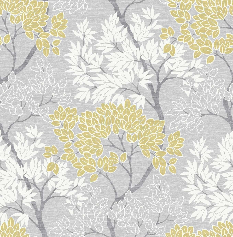 Buy Fresco Lykke Tree Grey Ochre Wallpaper Wallpaper Argos Tree Wallpaper Design Wallpaper Yellow Wallpaper