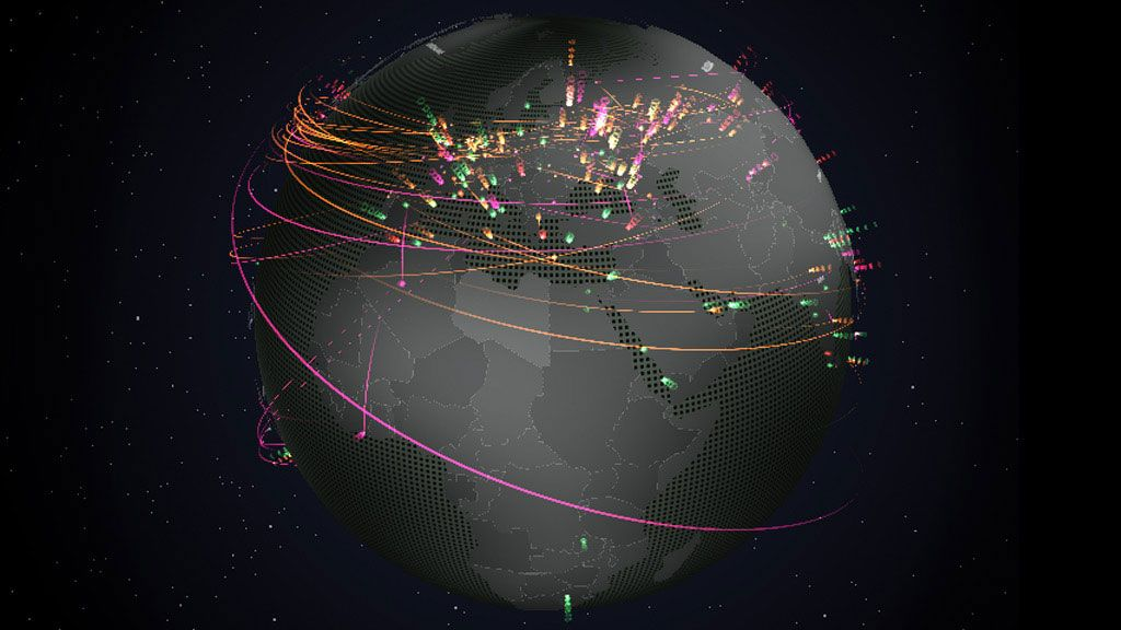 check out our new interactive real time map of online threats