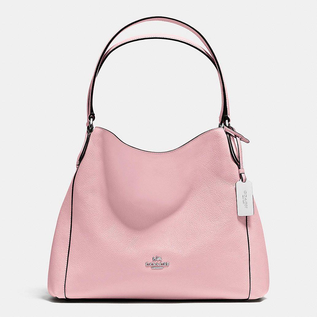 Pink leather shoulder bag Coach sCxIkO
