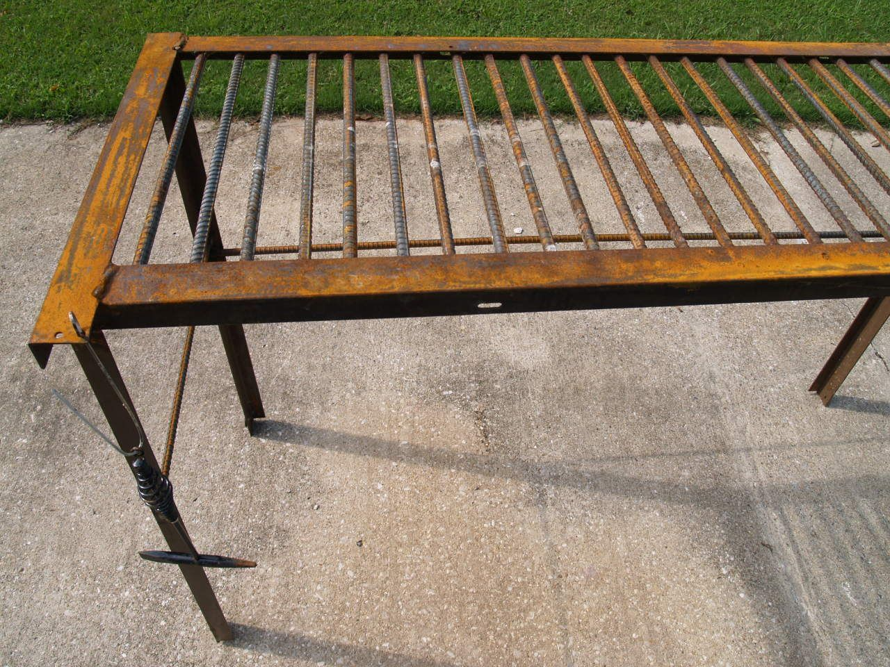 How To Build A Basic Welding Table From Rebar And Used Bed Frame