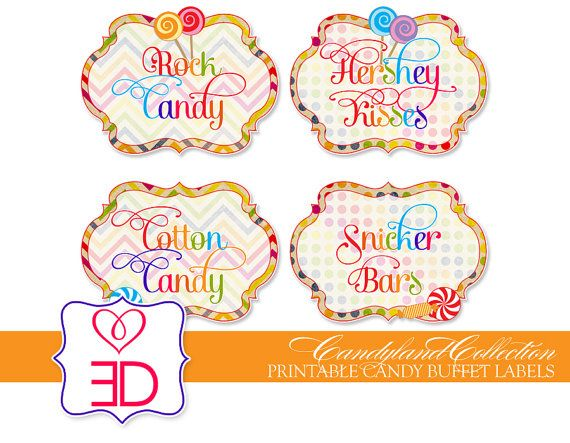 Free Printable Candy Buffet Labels Template Printables and clip