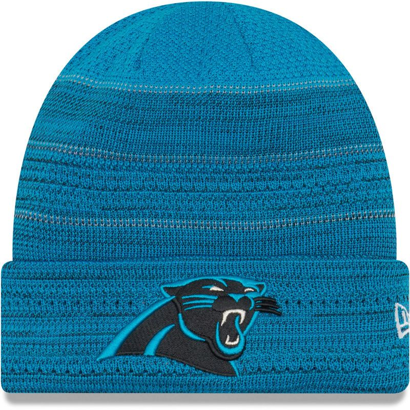 Carolina Panthers New Era 2017 Sideline Official TD Knit Hat - Blue ... 1d9568bb7