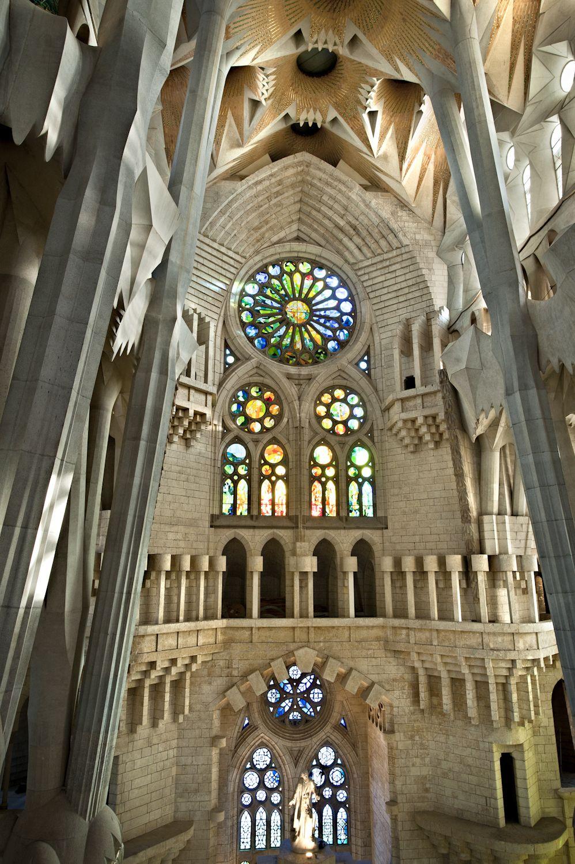 Vitralls Vidrieras Stained Glasses Basílica De La Sagrada Família Gaudi Barcelona Antonio Gaudí Gaudi