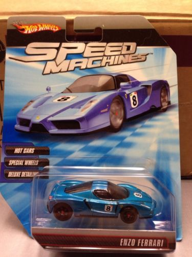 Sold For 17 95 2010 Hot Wheels Speed Machines Ferrari Enzo Blue