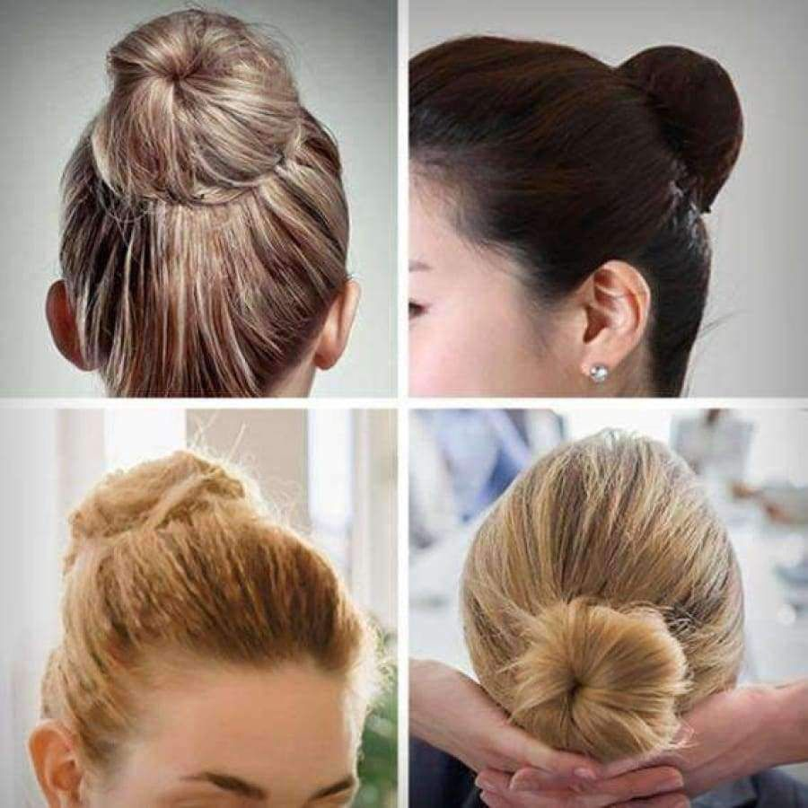 Hair Bun Maker Clip Bun Hairstyles Hair Bun Maker Diy Hairstyles