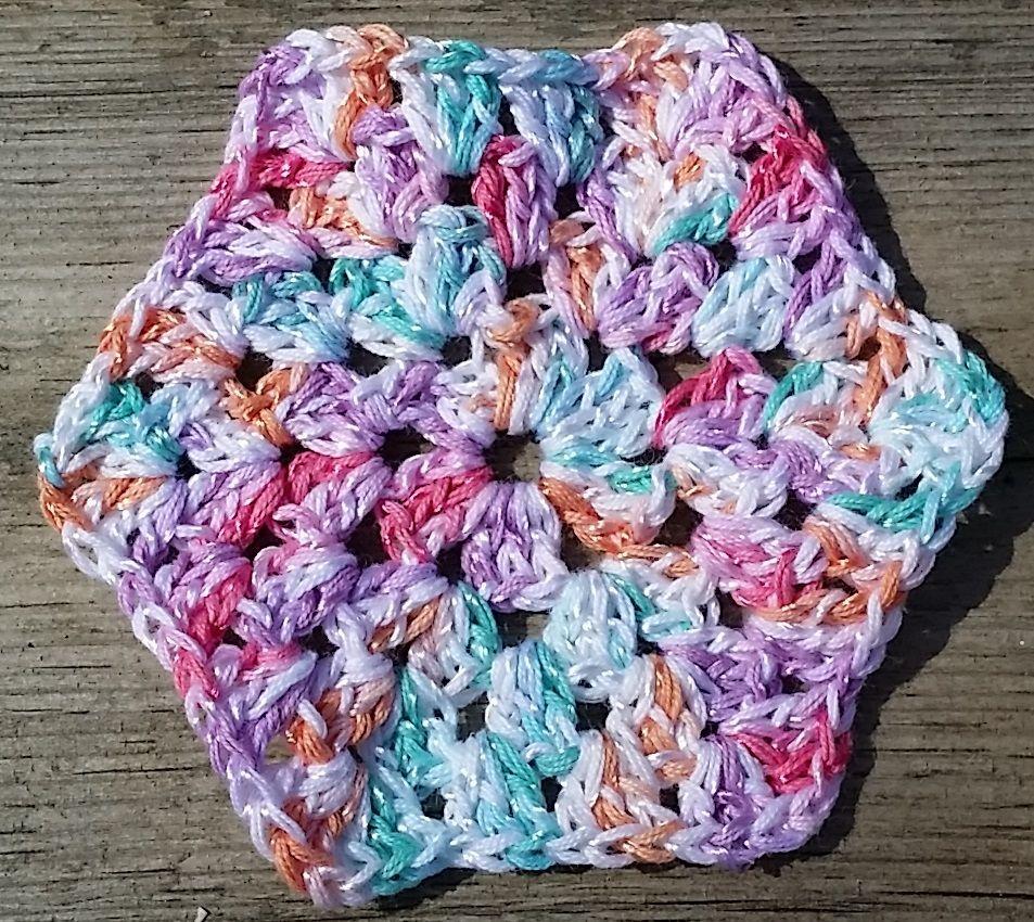 virkad sexkant hexagon crochet hexagon | knitting | Pinterest