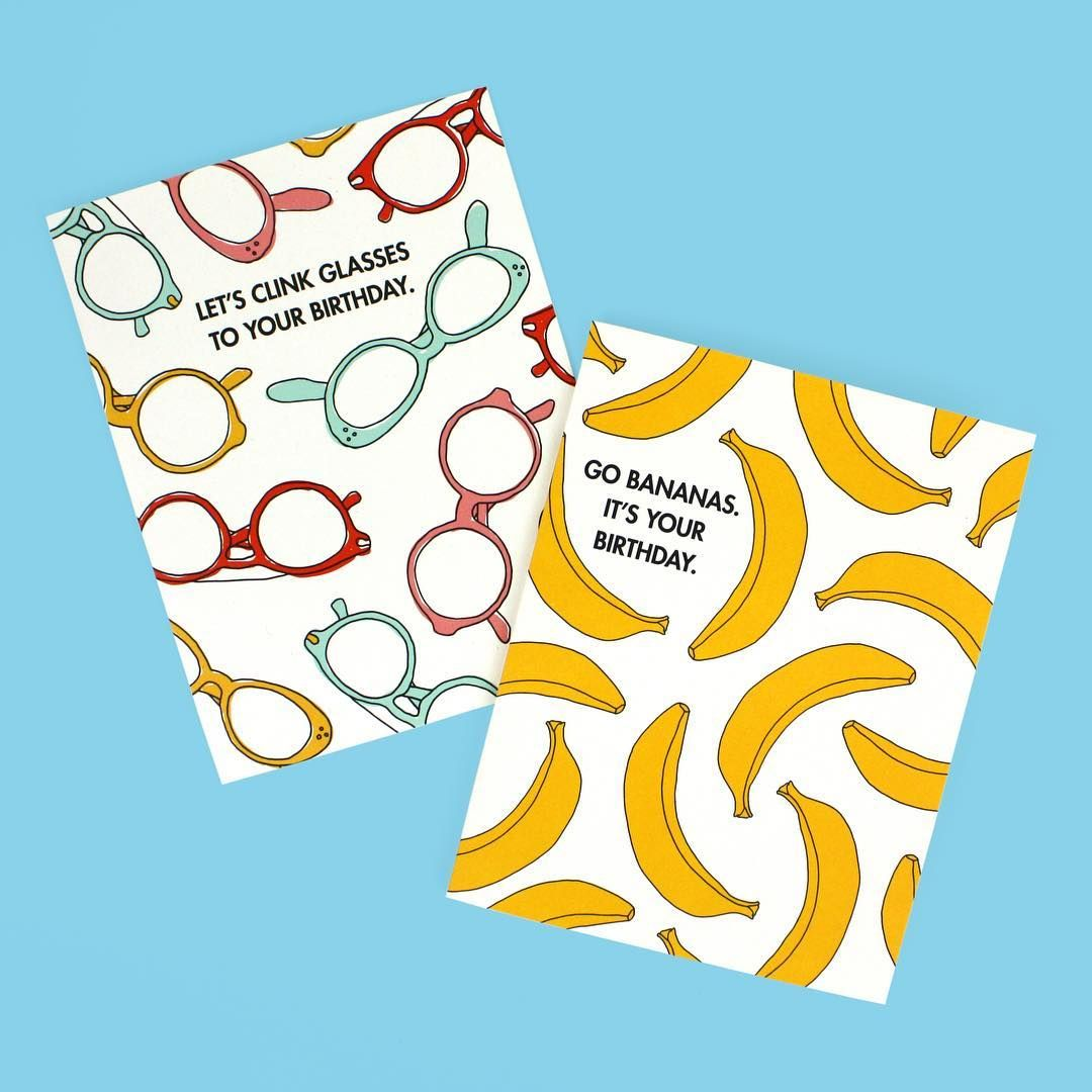 Send some eye candy to a friend eyeglasses and banana send some eye candy to a friend eyeglasses and banana birthday cards by seltzer goods m4hsunfo