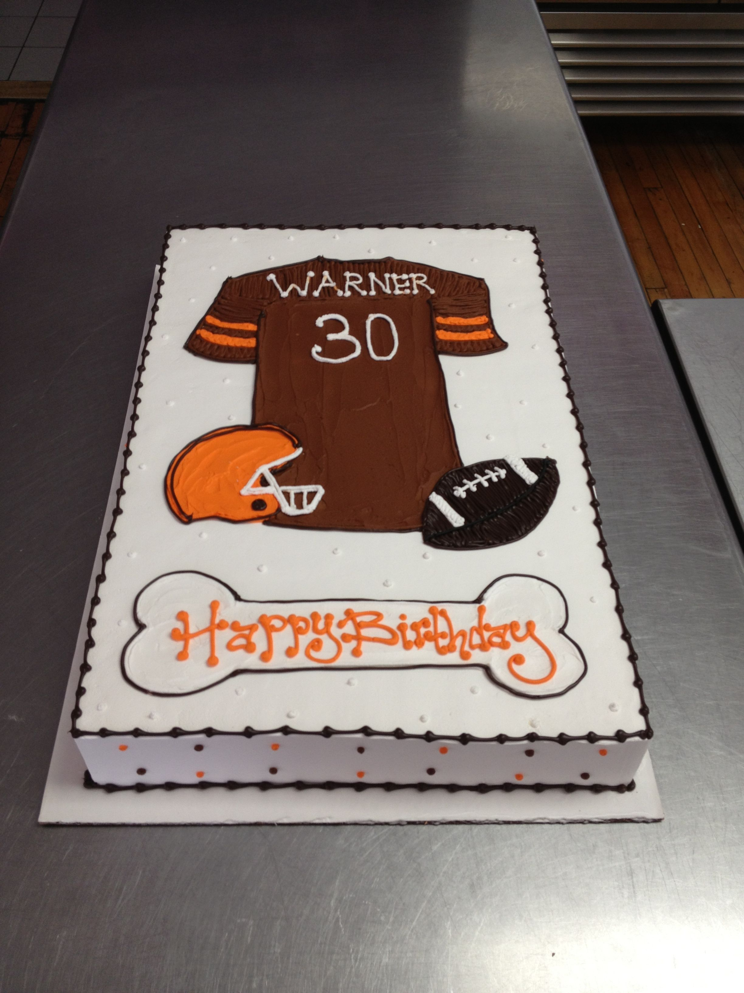 Cleveland Browns Themed Birthday Cake Wild Flour Bakery