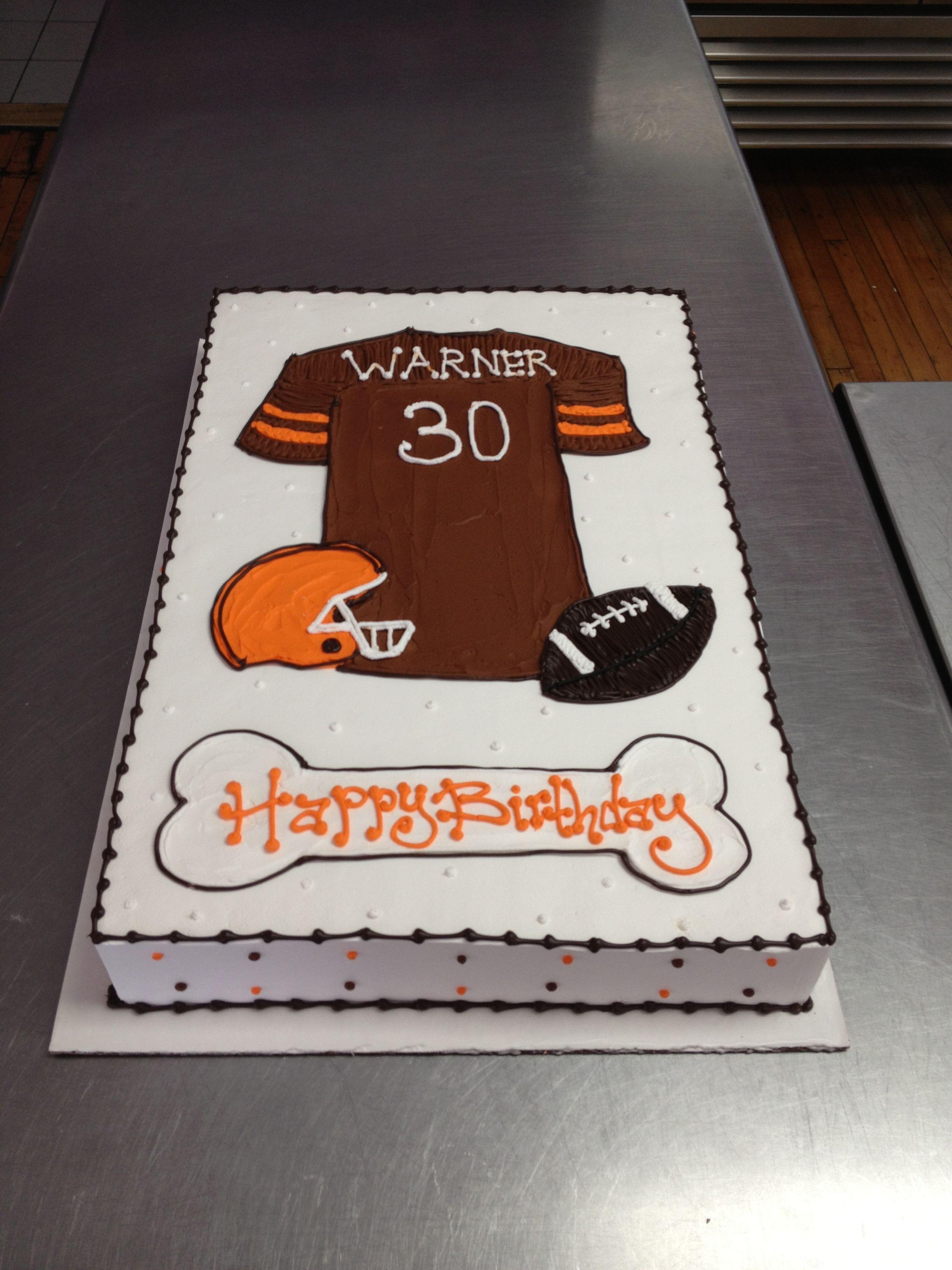 Cleveland Browns Themed Birthday Cake Wild Flour Bakery