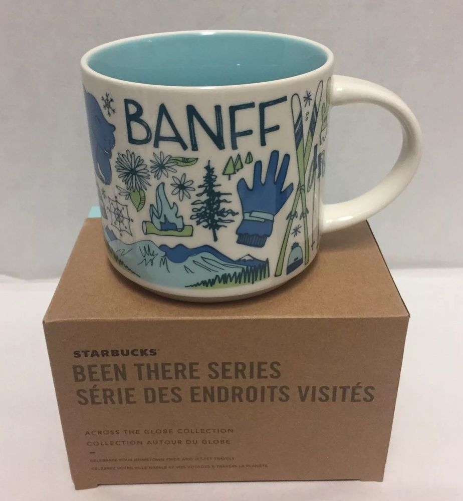 Starbucks Been There Series Banff Canada Coffee Mug Canada S National Park Bow River Skis Trees And More This Cup H Canada National Parks Mugs Starbucks