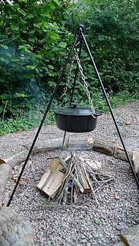 Campfire Cooking Tripod Dutch Oven Pot Great To Take Glamping Camping 45 Campfire Cooking Camping Items Campfire