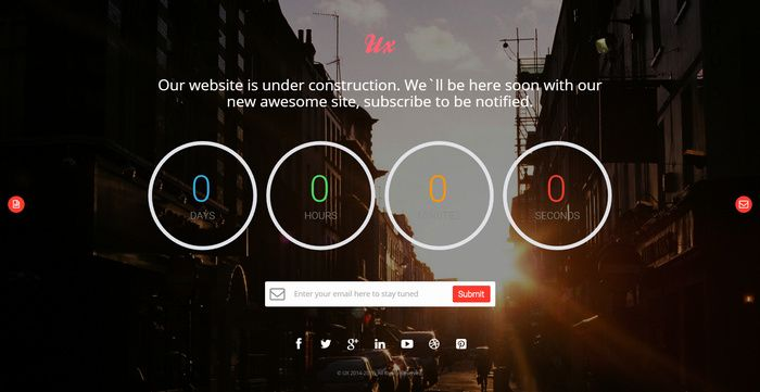 ux free responsive coming soon countdown template coming soon
