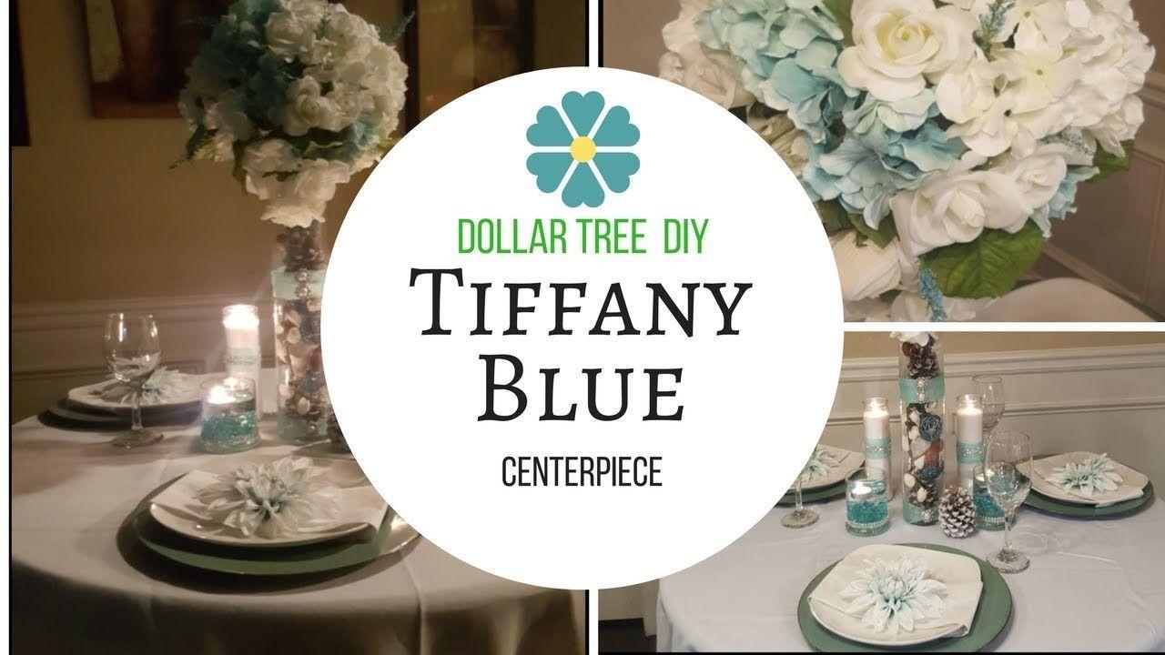 Tall Elegant Wedding Centerpiece | Tiffany blue centerpieces, Blue ...
